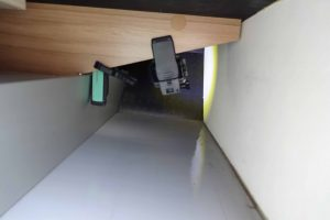 Undichtigkeit in Knaus Wohnmobilen - Beifahrerseite undichte Heckgarage - Kamerainstallation